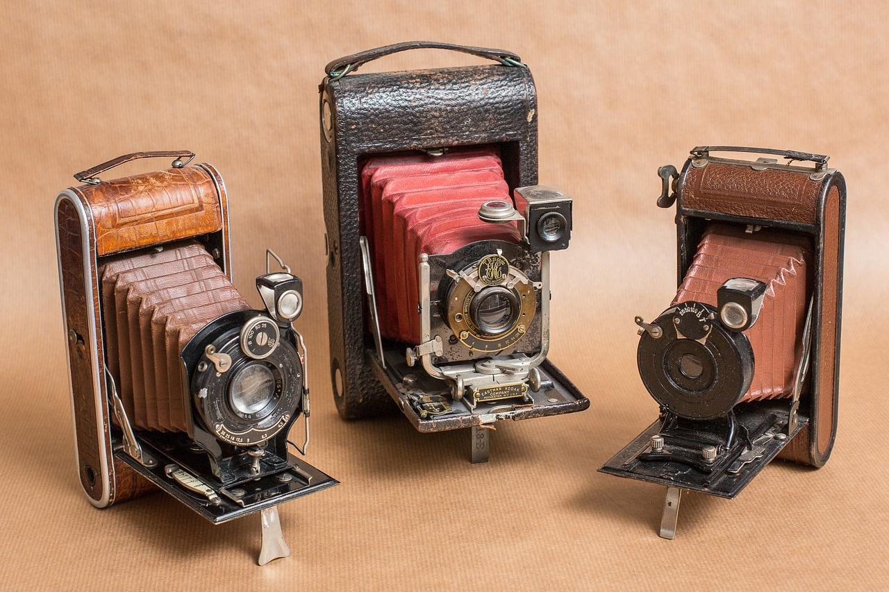 Les différentes parties d'un appareil photo.